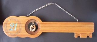 21st Key  Rimu with Hook Pendant