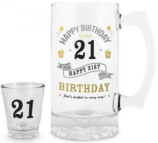 21st Stein and Shot Glass Set