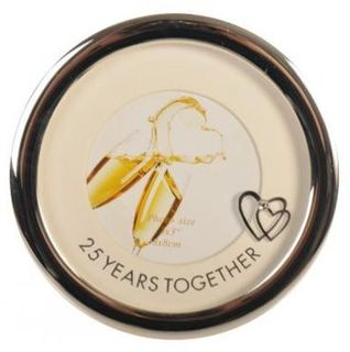 25 Years Together Photo Frame Round