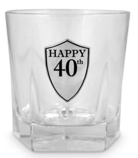 40th Whiskey Glass