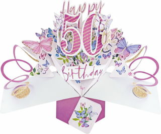 50 Pop Up Card Butterflies