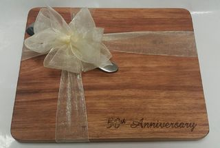 50th Anniversary Cheese Board