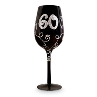 60 Glass Black Diamante Vine