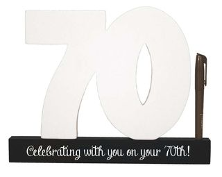70th Birthday Signature Number