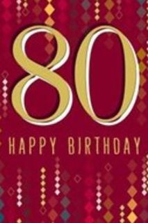 80 Happy Birthday Card