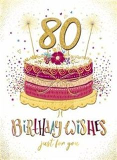 80th Birthday Wishes Card