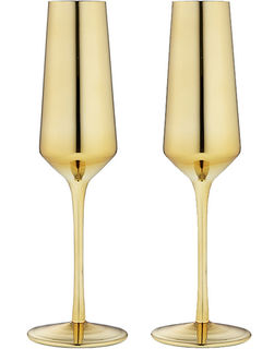Aurora Gold Champagne Glasses