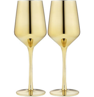 Aurora Gold Wine Glasses