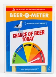 Beer o Meter Fridge Magnet