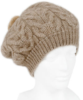 Cable Beanie Natural