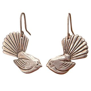 Fantail Sterling Silver Earrings