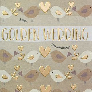 Golden Wedding Card