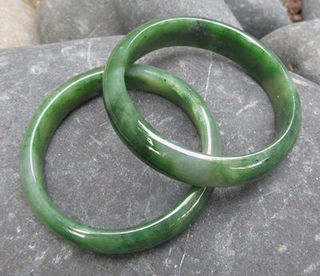 Greenstone Jade Wide Bangle