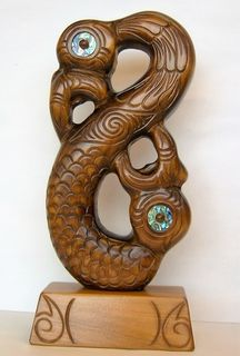Hand Carved Manaia