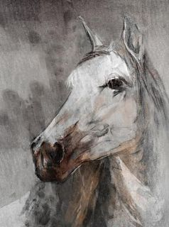 Horse Painting Trusty Dusty