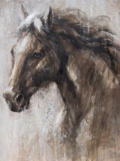 Horse Painting -  Won by a Head