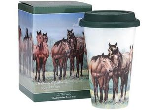 Horses in the Pasture Travel Mug