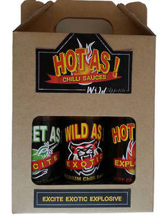 Hot As Chilli Sauces Gift Box
