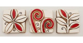 Jenz Tiles Mini Vibrant Red set of 3