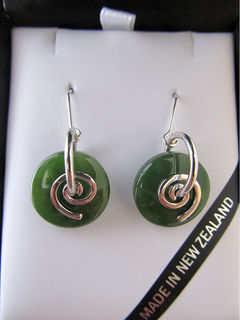 Koru Greenstone Earrings