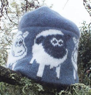 Lamb Beanie Possum and Merino Wool Blue