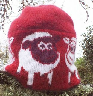 Lamb Beanie Possum and Merino Wool Red