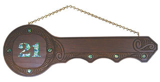 Large Yale 21st Key with Paua Inlay