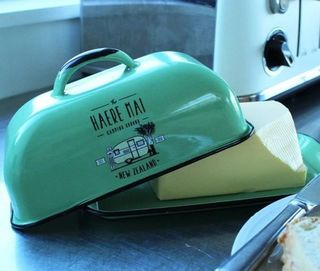 Moana Road Haere Mai Enamel Butter Dish - Choose White or Green