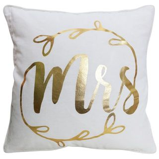 Mrs Wedding Cushion