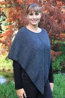 Possum Merino Lace Poncho Charcoal
