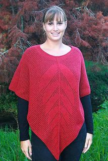 Possum Merino Lace Poncho Red
