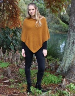 Possum Merino Poncho Gold