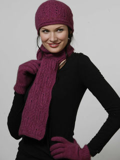 Possumdown Chunky Cable Scarf Fuchsia Pink