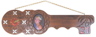 Samoan 21st Key Large Hand Carved