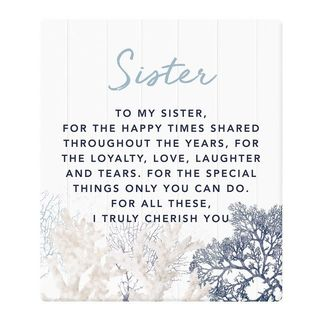 Sister Plaque