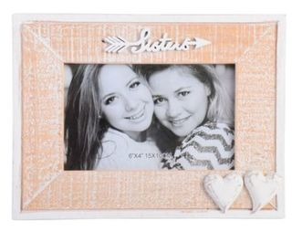 Sisters with Hearts Photo Frame