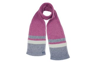 Koru Striped Scarf Rose
