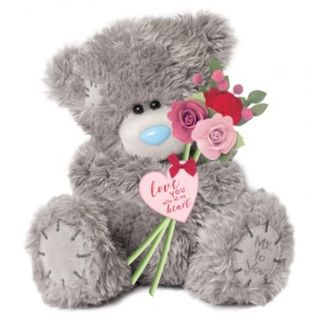 Tatty Teddy with flowers