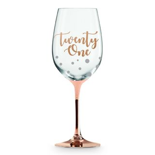 Twenty One Rose Gold Stem Wine Glass