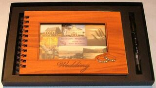 Wedding Album with Photo and Rings
