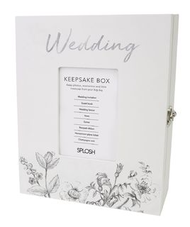 Wedding Keepsake Box Silver