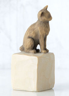 Willow Tree Figurine Love My Cat Dark