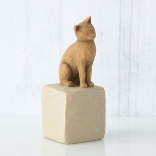 Willow Tree Figurine Love My Cat Light