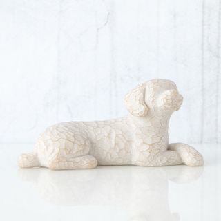 Willow Tree Figurine Love My Dog Small Lying Down