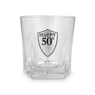 50th Glass Tumbler