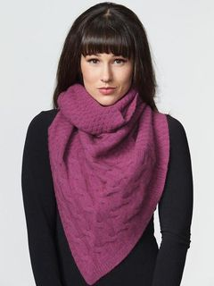 Cable Twist Scarf Fuchsia Pink
