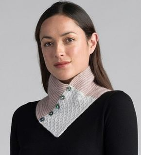 Merino Mink Lace Neck Warmer Wistful