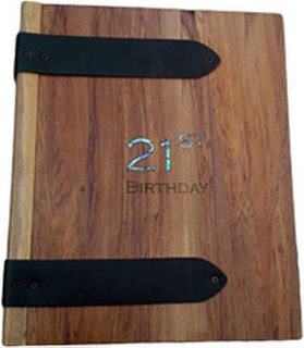 21st Wooden  Rimu Photo Album - 2 designs