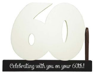 60th Birthday Signature Number