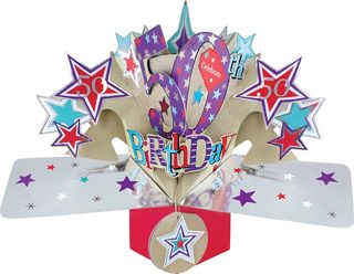 50th Birthday Pop Up Card